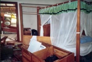 Philipps Zimmer nach dem Tsunami
