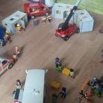 Playmobil Flüchtlingsheim im Detail