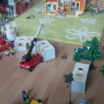 Playmobil Flüchtlingsheim im Stadtteil